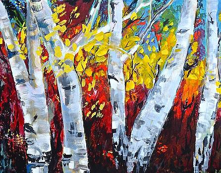 Fall Birch Trees by Gregory Merlin Brown
