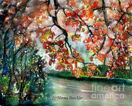 Fall By The Creek by Norma Boeckler