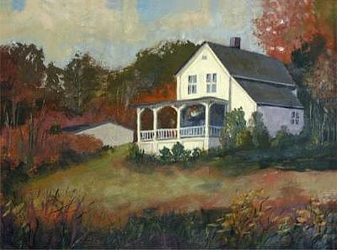 Fall Cottage by Jay Babina