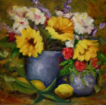 Fall Flower Still-life by Linda Hiller