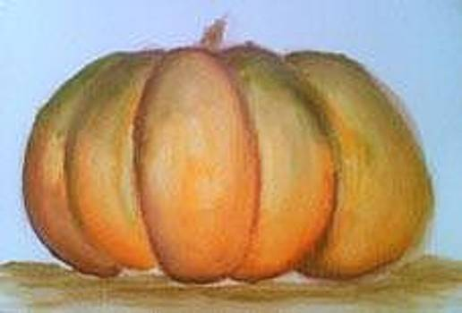 Fall Fruit Zucca D'autunno - Watercolor by Barbara Reale