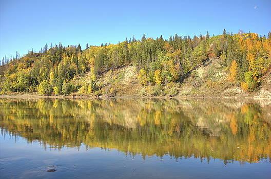Fall hues on the North Saskatchewan River by Jim Sauchyn