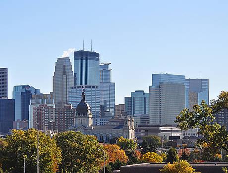 Fall in Downtown Minneapolis by D Nigon
