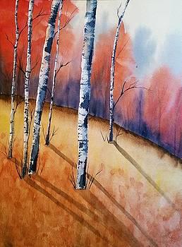 Fall In The Birches by Brenda O'Quin