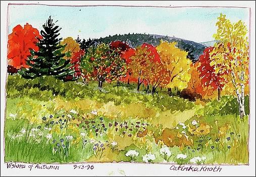 Fall landscape autumn fantasy scene foliage  by Catinka Knoth