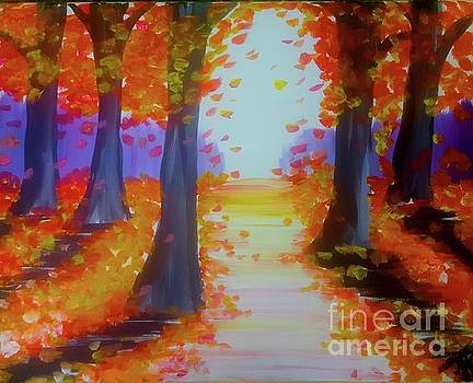 Fall Leaves A Trail by Tony B Conscious