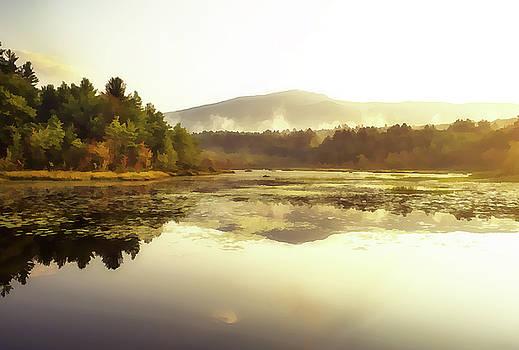 Fall morning - Oil by Gordon Ripley