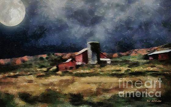 Fall Night at the Farm by RC deWinter