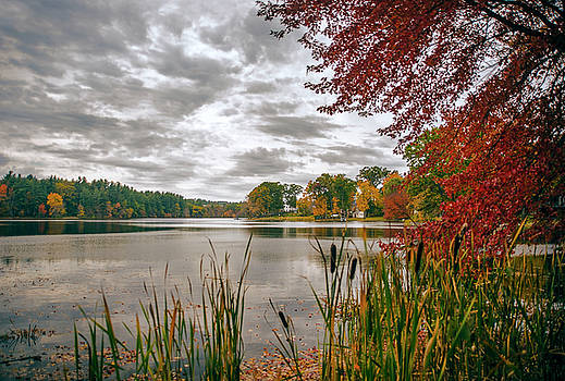 Fall on Flint Pond by Lee Fortier