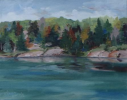 Fall on George Lake  by Monica Ironside