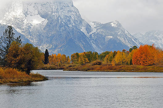 Fall on the Snake River in the Grand Tetons by Bruce Gourley