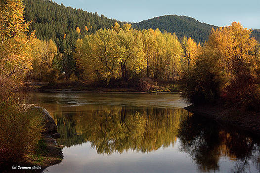 Fall on the Wenatchee River by Edward Coumou