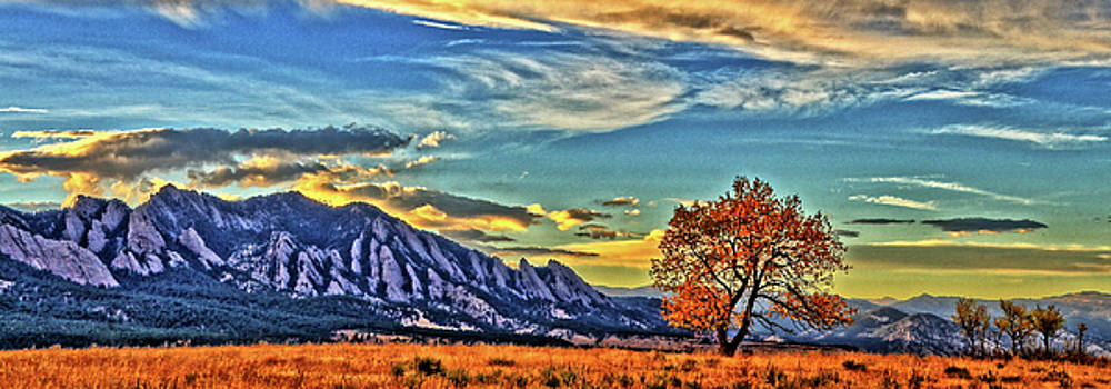 Fall Over The Flatirons by Scott Mahon