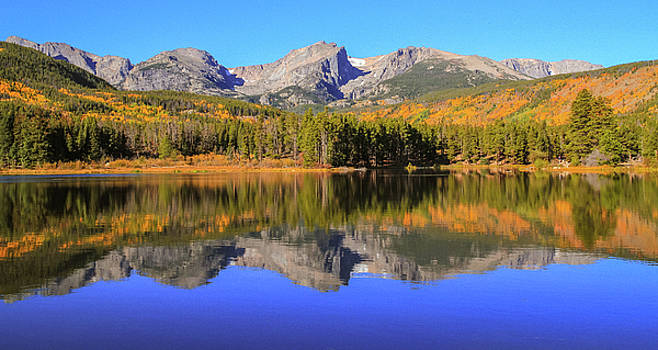Fall Reflections On Sprague Lake Colorado by Dan Sproul