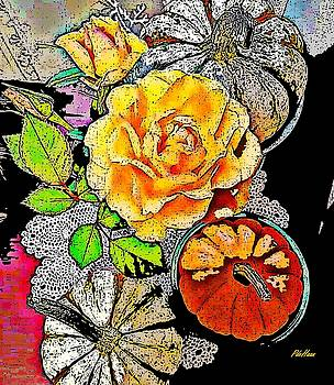 Fall Roses by Peggy De Haan