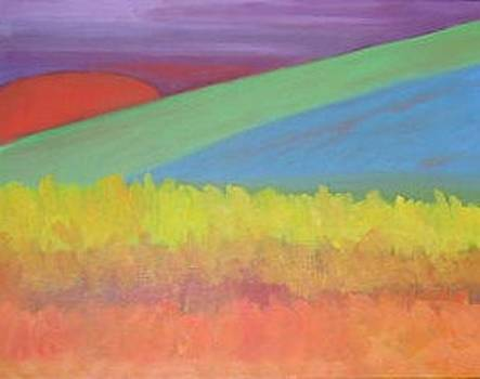 Fall Sunset by Joan Wallace Reeves