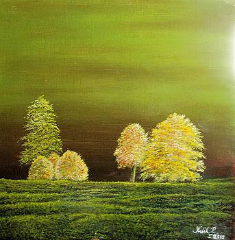 Fall trees by Peter Kulik