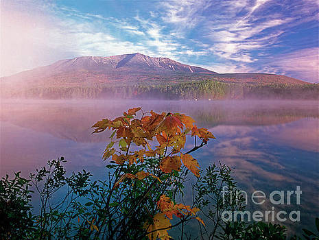 Fall view of Mt Katahdin, Baxter State Park, Maine by Kevin Shields