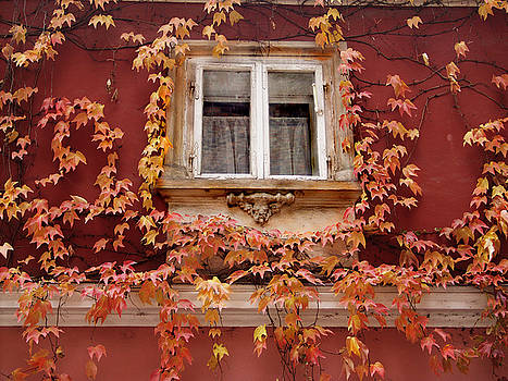 Fall Window,Prague by Ken Ketchum