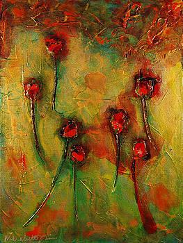 Falling Flowers  by Marabeth Quin