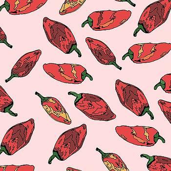 Falling Pepper Pattern Color by Cortney Herron