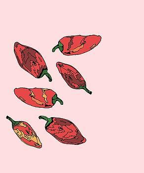 Falling Peppers by Cortney Herron