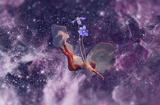 Falling Purple Galaxy by Lori Menna