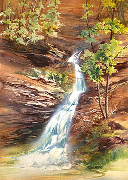 Falls at Hocking Hills by Lois Mountz