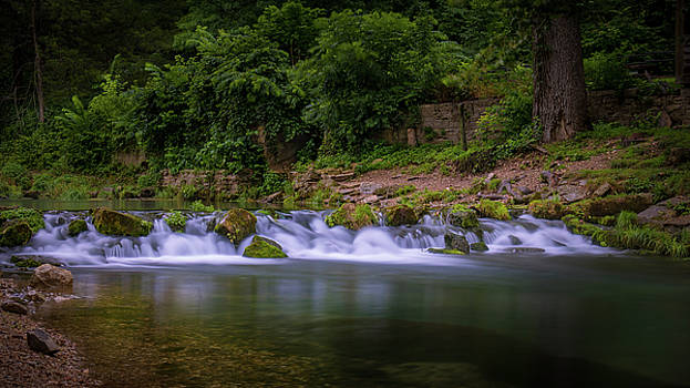 Falls at Roaring River by Allin Sorenson