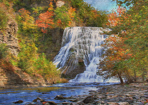 Falls in New York by Sharon Batdorf