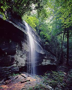 Falls near Brevard N. C. by John Rowe