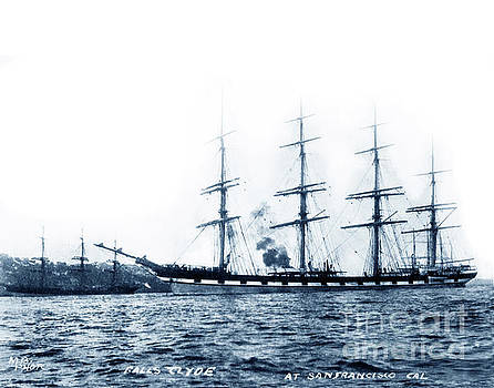 California Views Mr Pat Hathaway Archives - Falls of Clyde is the only surviving iron-hulled four-masted full rigged ship 1907