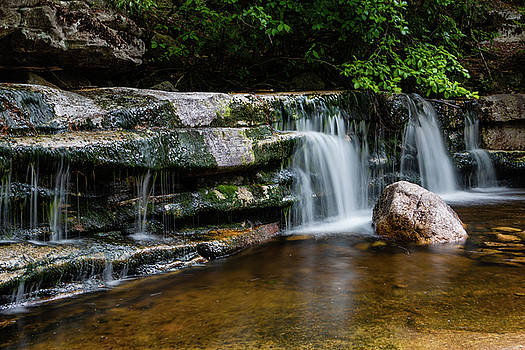 Falls of Peterskill in Spring I - 2018 by Jeff Severson