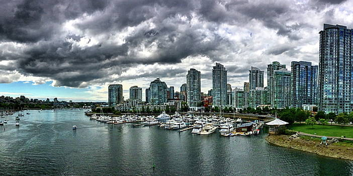 False Creek and Downtown Vancouver by Richard Hinds