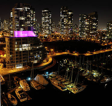 Reimar Gaertner - False Creek Yacht Club and West End Vancouver Condominiums after