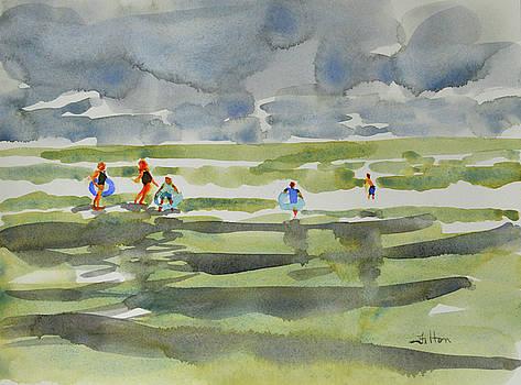 Family at the beach 2 by Julianne Felton