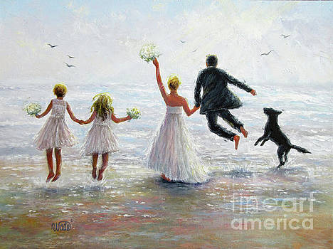 Family Beach Wedding by Vickie Wade