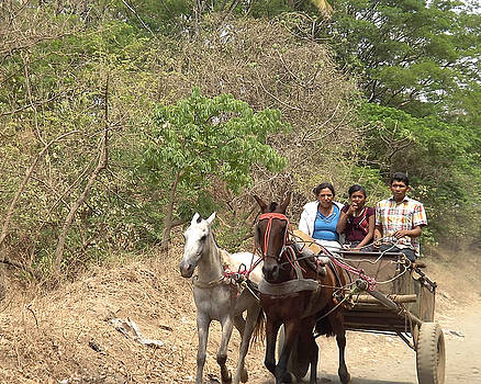 Marvin - Family in Horse-drawn Cart