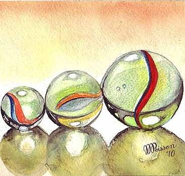 Family of 3 Marbles by Jean-Marie Poisson