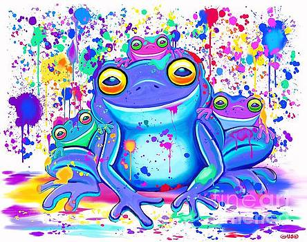 Nick Gustafson - Family of Painted Frogs