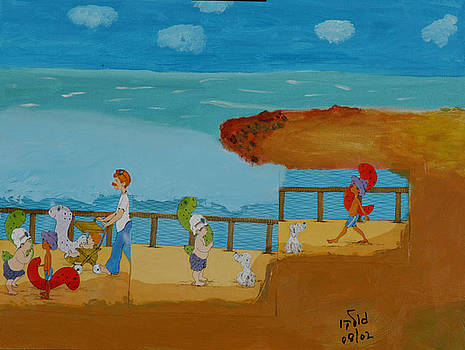 Family Outing to the Beach by Harris Gulko