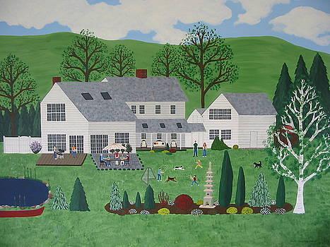 Family Picnic At Garden Arts  by Susan Houghton Debus