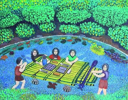 Family Picnic In PALAU by Lorna Maza
