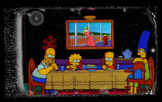Family Simpsons Picture Bugs by Mario Carini