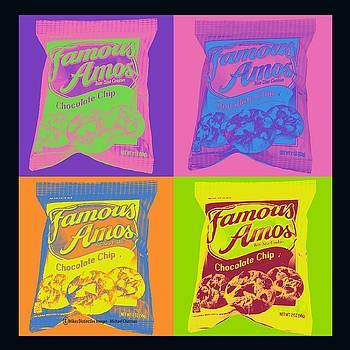 Famous Amos Pop Art by Michael Chatman