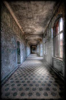 Famous Blue Corridor by Steven Coppenbarger