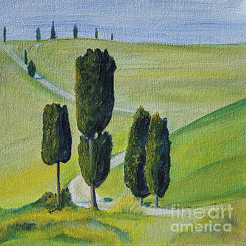 Famous Cypress in Tuscany by Christine Huwer