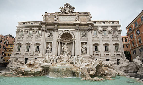 Famous Di trevi fountain in Rome Italy by Michalakis Ppalis