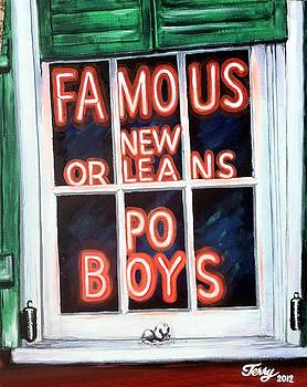 Famous French Quarter Window Sign by Terry J Marks Sr