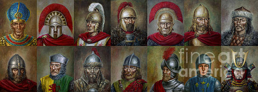 Famous warriors in history by Arturas Slapsys
